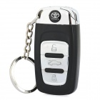 Toyota Logo Butane Lighter with White 1-LED Flashlight & Keychain - Black + Silver (1 x AG3)