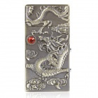 Cool Dragon Pattern Butane Lighter with White 1-LED Light & Money Detector - Bronze (1 x AC3)