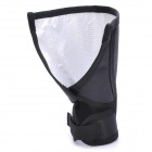 Folding Fabric Reflector Box for Speedlight - Black + Silver