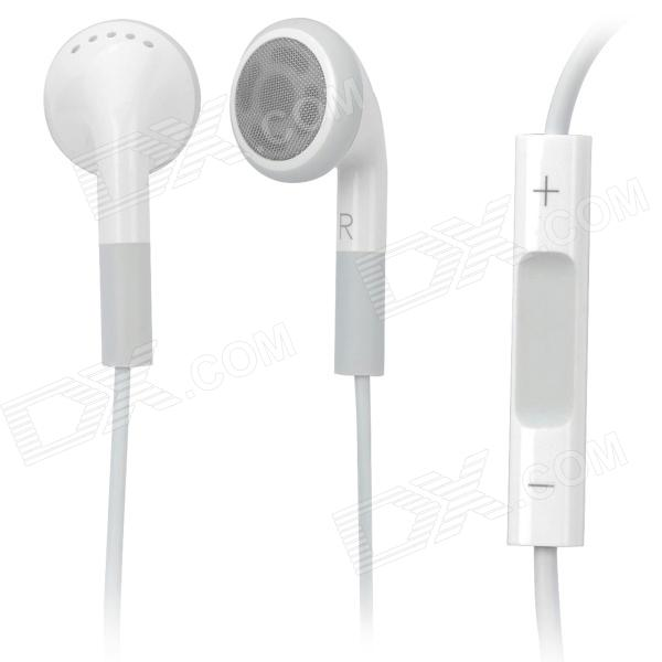Genuine Apple New iPad Earphone w/ Microphone / Volume Control - White (3.5mm-Jack / 100cm-Cable)
