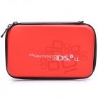 Protective Leather Hard Pouch Case for Nintendo DSILL / DSIXL - Red
