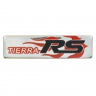 RD Car Decorative Metal Sticker - Red + Silver