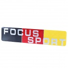 FOCUS SPORT Pattern Metal Car Decorative Sticker