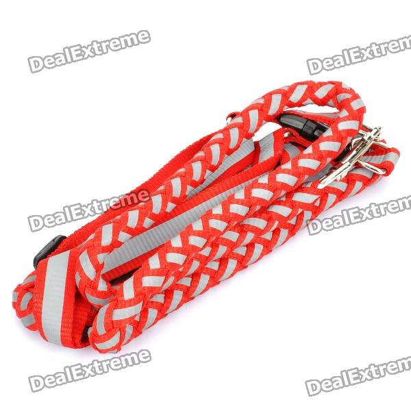 Adjustable Pet Dog Nylon Reflective Harness Belt Strap - Random Color (Size M) oumily reflective multi purpose paracord nylon rope cord reflective grey 30m 140kg