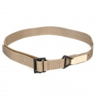 Rescue Riggers Tactical Rappelling Nylon Belt w/ Metal Buckle - Khaki (120cm)