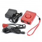 4-in-1 Driving Dog + Wolf-proof Fence + Electric Touch + Anti-Theft Electric Bodyguard - Red