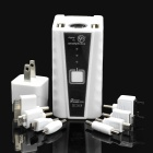 11200mAh Universal Mobile Power Battery Charger w/ Adapters - White