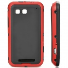 Designer's Replacement Full Housing Case with Buttons for Motorola ME525 - Red + Black