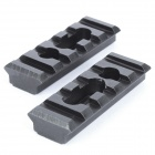 CNC Gun Rail Mount Set - Svart ( 3 - Piece Set )