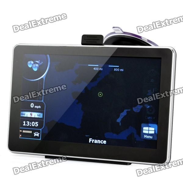 "7"" resistiv pekskärm WinCE 6.0 MTK 3351 GPS Navigator med Bluetooth / 4GB Europe Map TF Card"