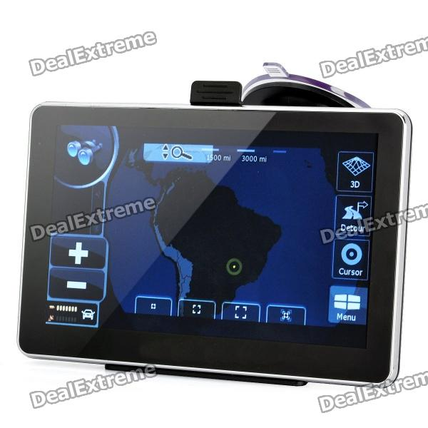 7 Resistive Touch Screen WinCE 6.0 MTK 3351 GPS Navigator w/ Bluetooth / 4GB Brazil Map TF Card