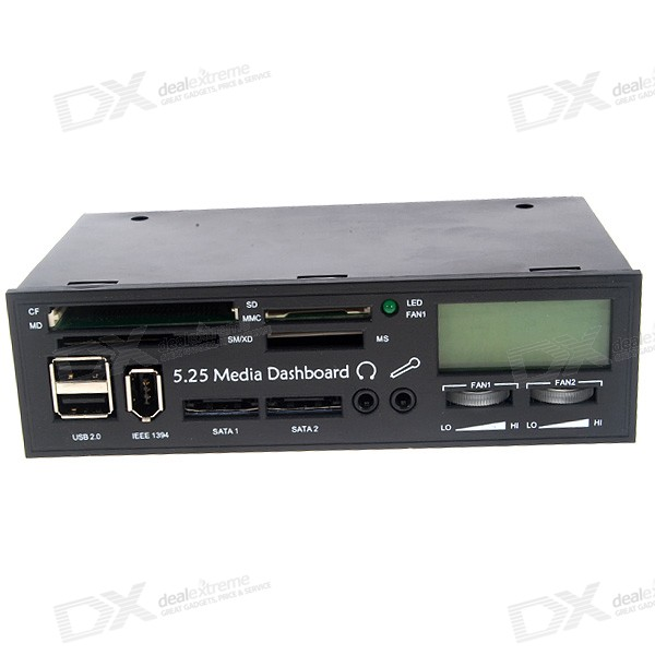 5 25 Quot Pc Lcd Front Panel Card Readers With Super I O Ports