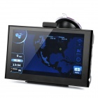 "7"" Resistive Touch Screen WinCE 6.0 GPS Navigator w/ Bluetooth / 4GB USA Map TF Card - Black"