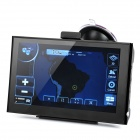 "7"" Resistive Touch Screen WinCE 6.0 GPS Navigator w/ Bluetooth / 4GB Brazil Map TF Card - Black"