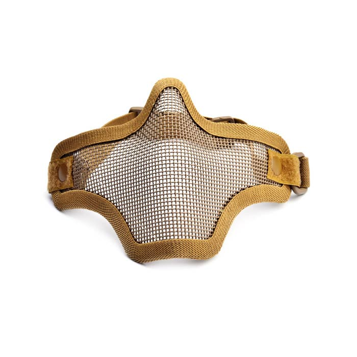 Tactical Iron Mesh Protective Mask for War Game - Coyote Tan