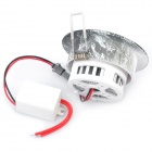 3W 6000 ~ 7000K 210 ~ 270-Lumen 3-LED White Light Katto alas lampun w / ajuri (AC 220V)