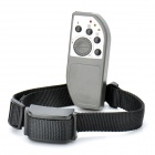 3-Mode Remote Control Pet Bark Stop Training Collar W/ 3-LED Red Light Bulb - Deep Grey