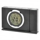2.2' LCD Talking Projection Clock w/ Thermometer - Black (3 x AAA)