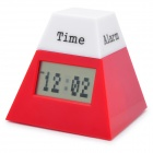 "Multi-Function 1.8"" LCD Rotation Clock w/ LED Colorful Light / Thermometer / Date / Alarm (3xAAA)"