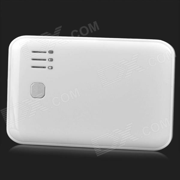 Power Bank 6000mAh Mobile External Power Battery Charger - White 5200mah mini rechargeable mobile power bank for cellphone tablet pc more blue white