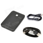 Power Bank 6000mAh Mobile External Power Battery Charger - Black