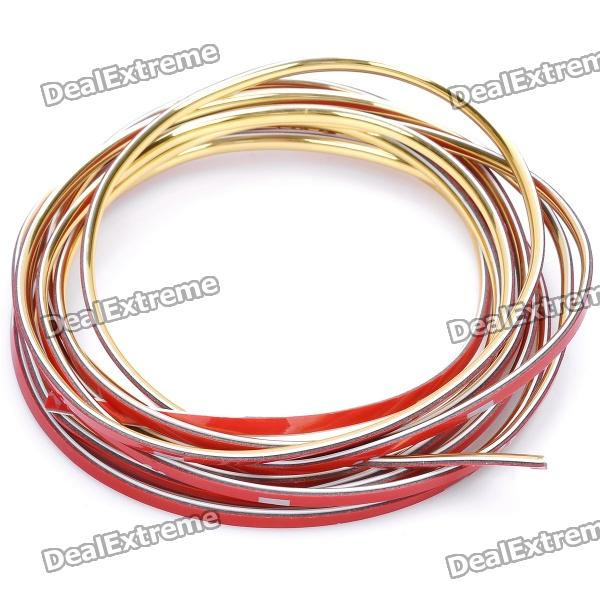 Car DIY Decoration Moulding Trim Strip - Golden (3M-Length)