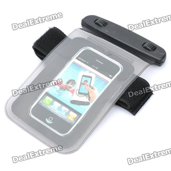 Waterproof PVC Bag Case w/ Strap for Cell Phone + More - Grey
