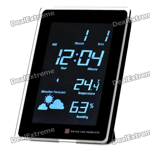 "Buy AC Powered 5.5"" White Backlight LCD Digital Clock w ..."