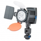 12W 6500K 600-Lumen 4-LED White Light Video Lamp w/ Filters - Black (1 x Sony NP-F550)