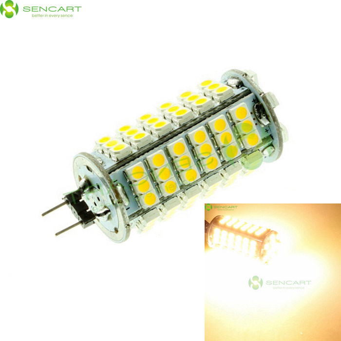 G4 6W 3500K 510-Lumen 102-3528 SMD LED Warm White Light Bulb (DC 12V) 9006 6w 190 lumen 18x5050 smd led car white light bulb dc 12v