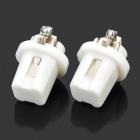 B8.5 0.6W 6500K 28-Lumen 2-3528 SMD LED White Light Lampes LED (DC 12V / Pair)