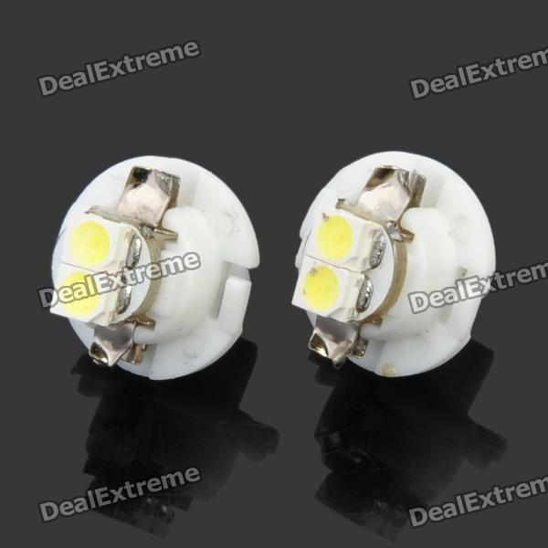 B8.4 0.6W 6500K 28-Lumen 2-3528 SMD LED White Light Car LED Lamps (DC 12V / Pair)