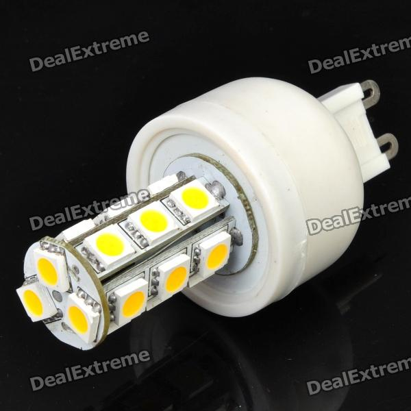 G9 3.6W 3500K 252-Lumen 18-5050 SMD LED Warm White Light Bulb (AC 85~265V) r7s 15w 5050 smd led white light spotlight project lamp ac 85 265v