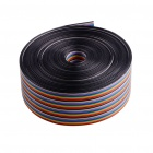 40 Pin Ribbon Wire Cable - Rainbow (10 Meters)