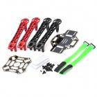 4-Axis HJ450 Llama multi Flame Wheel Smooth Strong KK MK MWC Quadcopter Kit - Rojo + Negro