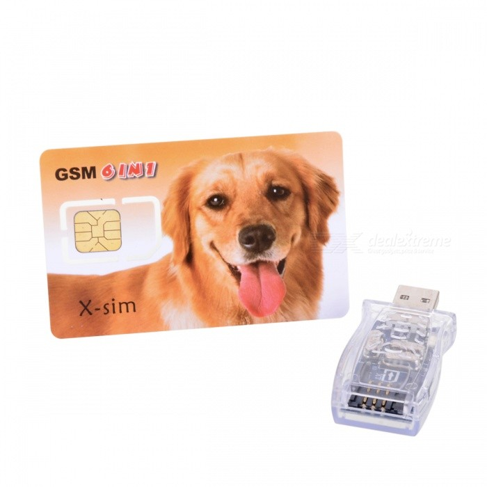 SIMMAX GSM 6-Number-in-1 SIM Card with USB Card Reader/Writer and Cloning Software cloning with gesture expressivity