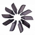62mm 3D Carbon Fiber Tail Blade for T-REX 450 SE Sport - Black (5-Pair)