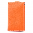 Wallet Style Protective Leather Case Bag for iPhone 4 / 4S / 3GS - Orange