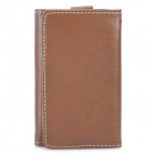 Wallet-Design Protective PU Leather Case for Iphone 3gs / 4 / 4S - Coffee