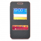 Protective PU Leather Cover Plastic Case for Samsung i9100 - Black