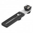 Aleación de aluminio Hot Shoe Straight Flash Bracket para cámara - Negro