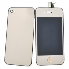 Replacement Touch Screen Digitizer LCD + Back Cover Module w/ Tools Kit for iPhone 4 - Golden