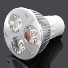 GU10 3W 3300K 300-Lumen 3-LED Warm White Light Bulb (AC 85~265V)