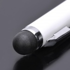 2-en-1 Capacitive Stylus Pen Bolígrafo + - Blanco
