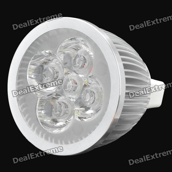 GU5.3 5W 400~450LM 6500K Cold White Light 5-LED Spotlight (DC 12V)