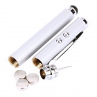 3-in-1 Capacitive Touch Screen Stylus + White LED Light + Red Laser Pointer - Silver (3 x AG3)