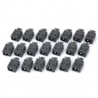 1.65mm DC Jack Connector - Black (20-Piece Pack)