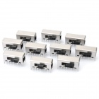 SK-24F01 Slide Switch DIY Parts - Silver + Black (10-Piece Pack)