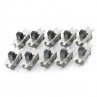 SS-12D10 Slide Switch DIY Parts - Green + Silver (10-Piece Pack)