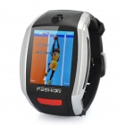"F6 GSM Watch Phone w/1.8"" Resistive Screen, Single SIM and FM - Silver"